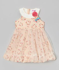 Look what I found on #zulily! Cream Floral Yoke Dress - Infant, Toddler & Girls #zulilyfinds