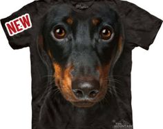 Dachshund Face T-shirt Great Christmas Gift Big pet animal face Tie Dye washed Shirts S-3XL