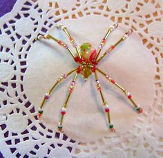 Red Decor Bottom Spider by LindaLarsens on Etsy, $15.00