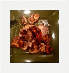 Porkloin with sautéed mushrooms