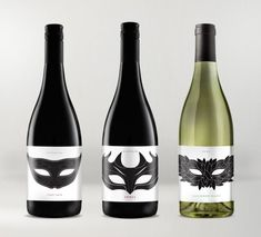 """""""Sydney's iconic restaurant, Wildfire asked us to create the labels for their new range of wines sold through the restaurant - Designers were inspired by Venetian Theatre Masks"""