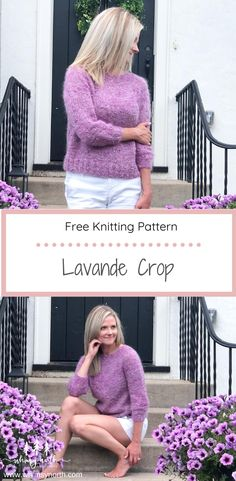 This easy beginner sweater knitting pattern features mohair and slub yarn held together to create a soft and fun textured sweater. The top down, seamless yoke construction is easy for beginner knitters. It comes 9 different sizes and can be modified for long or short sleeves. The entire pattern can be found free on the Whimsy North Blog! #freesweaterknittingpattern #beginnersweaterknitting #easysweaterknittingpattern #mohairsweater #summerknitting Easy Sweater Knitting Patterns, Knit Patterns, Knitting Sweaters, Summer Knitting, Free Knitting, Summer Sweaters, Knitting Accessories, Sweater Design, Knitting For Beginners