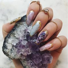 42 Popular Nail Art Designs Ideas With Stones For The Perfect Manicure Since ancient times, women have been known to decorate themselves with different accessories. Nail art is an old concept which […] Winter Nail Art, Winter Nails, Gem Nails, Hair And Nails, Oval Nails, Fabulous Nails, Gorgeous Nails, Nail Art Designs, Nail Crystal Designs