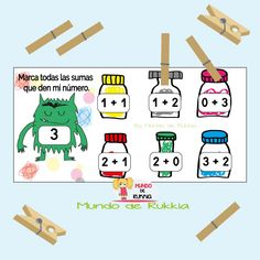 juego-aprender-sumar Numeracy, Activities For Kids, Homeschool, Comics, Erika, Free, Feelings, Activities, The World