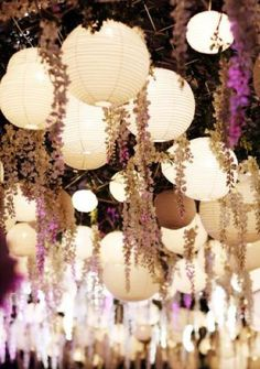 romantic: I like the long hanging flowers in with the lights!