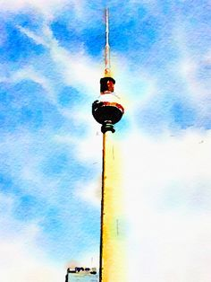 Fernsehturm Berlin by Itsbetter2lookup on Etsy