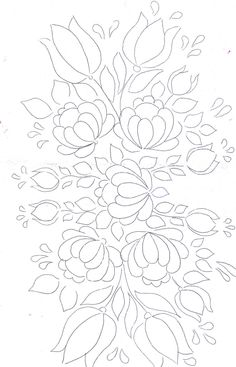 Floral Bunch pattern for painting / embroidery / applique / .... Love the flourishing Happy effect of this design !