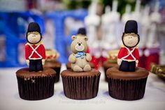 cupcakes Londres, soldadinhos de chumbo