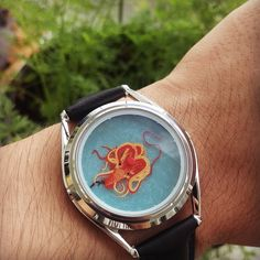 Eight handed time!  Vingt Mille watch by Mr. Jones. Check it out here: http://ift.tt/2fZgPJ9