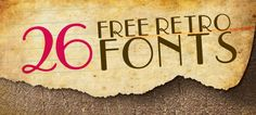 My favorite thing in the world: free fonts. <3