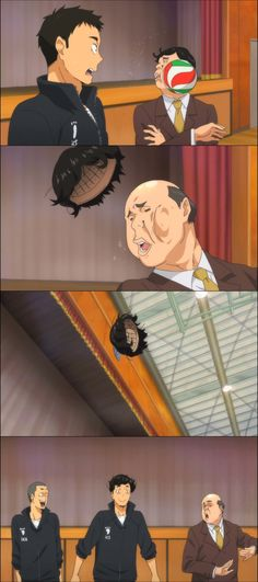 Sawamura Daichi - Vice Principal - Haikyuu!! Funny moment