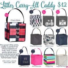 Littles Carry-All Caddy by Thirty-One. Fall/Winter 2016. Click to order. Join my VIP Facebook Page at https://www.facebook.com/groups/1603655576518592/