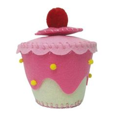 Felt Crafts - Fairy Cake Trinket Box - Pink Cream - Fred Aldous