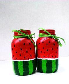 70 Ideas Backyard Bbq Party Decorations Diy Mason Jars For 2019 Mason Jar Fathers Day Gifts, Mason Jar Gifts, Mason Jar Diy, Gift Jars, Watermelon Centerpiece, Watermelon Crafts, Watermelon Birthday, Jar Crafts, Bottle Crafts