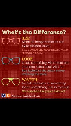 Look/watch/see