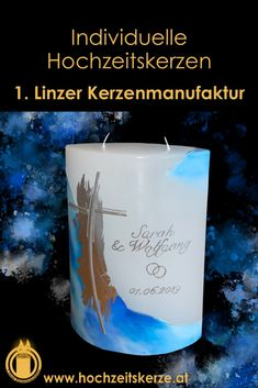 I make unique wedding candles according to individual wishes. Unique for every bride and groom. Unique Weddings, Blue And Silver, Pillar Candles, Bride, Form, How To Make, Embellishments, Decorations, Candle Decorations