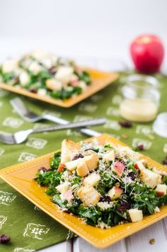 Kale & Quinoa Salad with Garlic Croutons - Cooking Quinoa