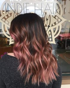 natural rose gold hair color on woman http://coffeespoonslytherin.tumblr.com/post/157339262527/finding-new-short-hairstyles-2017