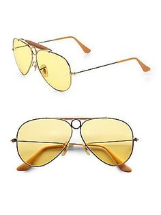 30aec654f5a21 Original   Vintage 70  s   Ray Ban B L   Aviator Shooter  62 MM ...