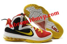 cheap for discount 04c84 d2ab0 cheap new Nike Lebron James 9 Shoes Black White Red Yellow clearance