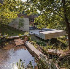 Modern stone home #Dezeen