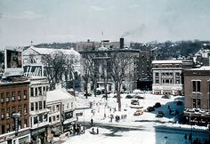 Downtown Waterbury, Connecticut (1950's / 1960's) Waterbury Connecticut, New Social Network, Airplane Design, Domestic Flights, British Airways, Urban Exploration, Climate Change, A Team, New England