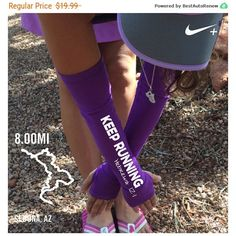Arm Warmers for Running Keep Running Arm Warmer Running Gift Running... ($19) ❤ liked on Polyvore featuring activewear, dark olive, leggings and women's clothing