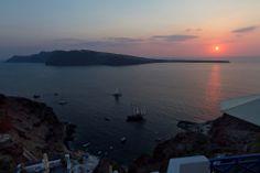 #Santorini #Sunset #view #Cyclades #summer #Esperas