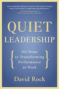 Quiet Leadership: Six Steps to Transforming Performance at Work by David Rock http://www.amazon.com/dp/0060835915/ref=cm_sw_r_pi_dp_yln8wb0SW0MD6