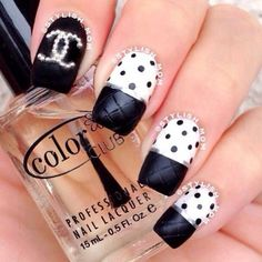 Most Attractive black and white nail art designs (11)