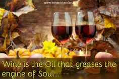 Wine is the Oil that greases the engine of Soul...