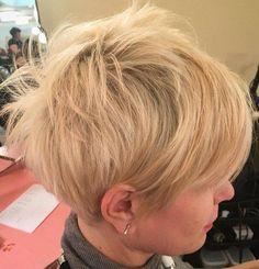 Blonde Messy Pixie