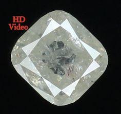 0.79 Ct Natural Loose Diamond Cut Cushion Shape White Color 5.10X4.90X3.10MM L7876