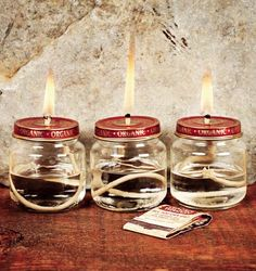 baby food jar lanterns