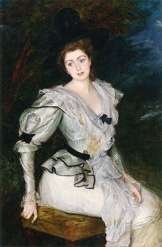 Portrait of a Baronne in Louis XVI Costume by Jacques-Émile Blanche (1861-1942)