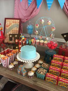 Vintage Circus Theme Baby Shower created by Something Blue Event Planning and Designs. Located in Birmingham, AL. Contact: btorian.somethingblue@gmail.com