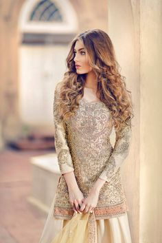 "Pakistani couture : "" Iqra F. Pakistani Wedding Dresses, Pakistani Bridal, Pakistani Outfits, Indian Dresses, Indian Outfits, Bridal Dresses, Pakistani Clothing, Party Wear, Party Dress"