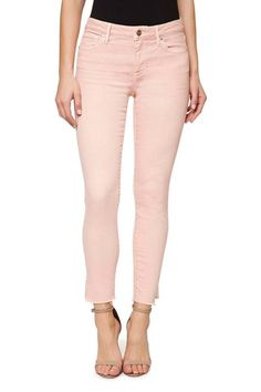 This candy-hued jean by Sanctuary features a zip fly with button closure traditional 5-pocket styling and an on trend raw edge hem.    Fit: This jean has a slim stretch fit.    Care: Machine wash inside out in cold water on the gentle cycle with like colors. Tumble dry on low.    Fabrication: Self - 92% Cotton 7% Poly 1% Elastane; Lining - 100% Cotton    Color: Washed Cameo    Origin: Imported Kye Skinny Jeans by Sanctuary. Clothing - Bottoms - Jeans & Denim - Skinny Greenville South…