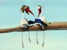 Storks by Eugenia Mandrugina