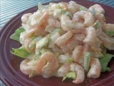 Shrimp and Macaroni Salad: From the Kitchen of Deep South Dish - A macaroni… Shrimp Salad Recipes, Seafood Salad, Healthy Salad Recipes, Seafood Dishes, Fish And Seafood, Seafood Recipes, Cooking Recipes, Prawn Pasta, Food Wishes