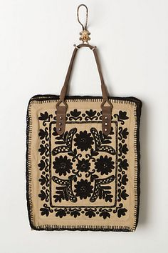 Framed Needlepoint Tote Tribal Bags