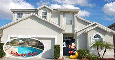 This spacious 5 bedroom Orlando Vacation Home can sleep up to 12 and includes private screened in pool and game room.