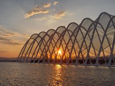 Agora at sunset .Part of the Olympic complex in Athens. Another Santiago Calatrava masterpiece! Entry for Best Sunset category #bestofgreece