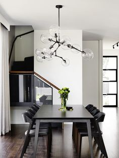 Masculine Dining Room Design Inspiration - There are lots of ways to personalize a dining room. Therefore, if you want to luxuriously decorate your dining space, look at these pics for a small . by Joey Contemporary Interior Design, Luxury Interior Design, Modern House Design, Interior Design Inspiration, Interior Ideas, Minimalism Living, Dining Room Inspiration, Dining Room Design, Dining Rooms