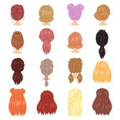 wedding hairstyles easy hairstyles hairstyles for school hairstyles diy hairstyles for round faces p Updos For Medium Length Hair, Medium Hair Styles, Curly Hair Styles, Hair Medium, Hairstyles For School, Cute Hairstyles, Braided Hairstyles, Woman Hairstyles, Drawing Hairstyles