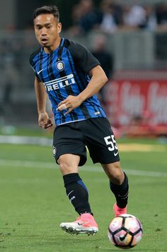 Yuto Nagatomo of FC Internazionale Milano in action during the Serie A match between FC Internazionale and Udinese Calcio at Stadio Giuseppe Meazza on May 28, 2017 in Milan, Italy.