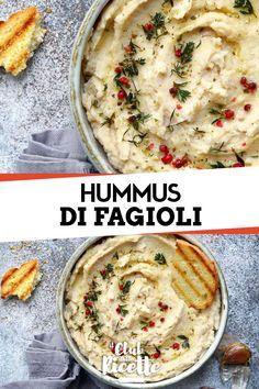 L'Hummus di Fagioli Bianchi è una salsa mediorientale perfetta con le verdure che si prepara sostituendo i ceci della ricetta tradizionale con i fagioli bianchi.