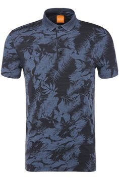 Polo shirt in cotton with all-over print: 'Picou'