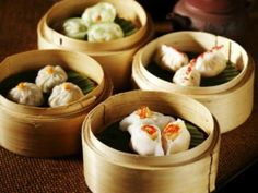 It is having its origin from China; it is cooked in a small bamboo basket and served as an appetizer-style dish.