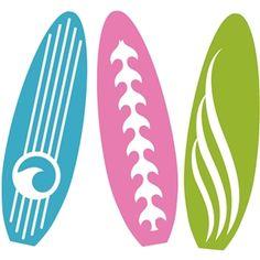 Silhouette Design Store: beach surf boards